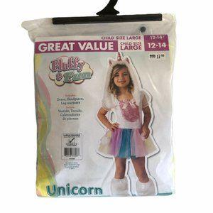 Unicorn Rubies Costume Girls 12-14 EUC